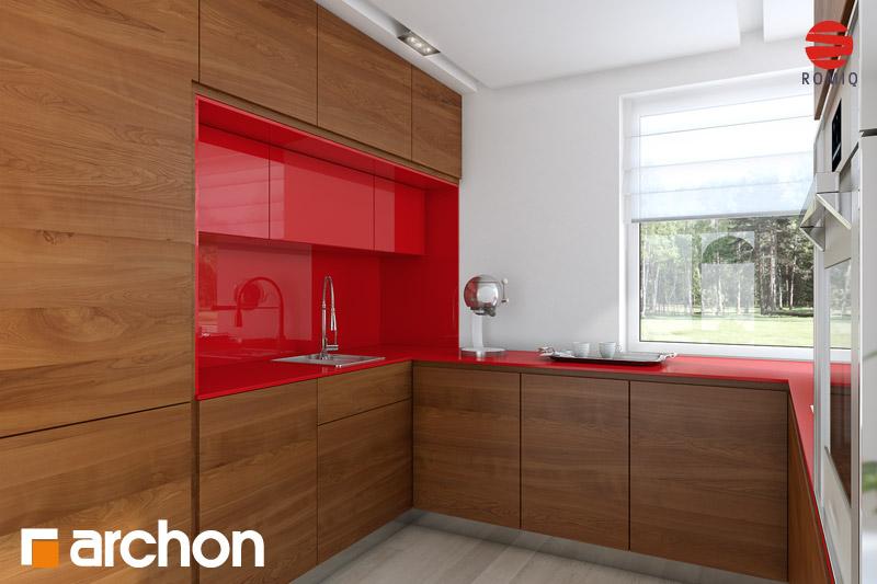 Проект дома ARCHON+ Дом в журавках (П) аранжировка кухни 2 вид 2