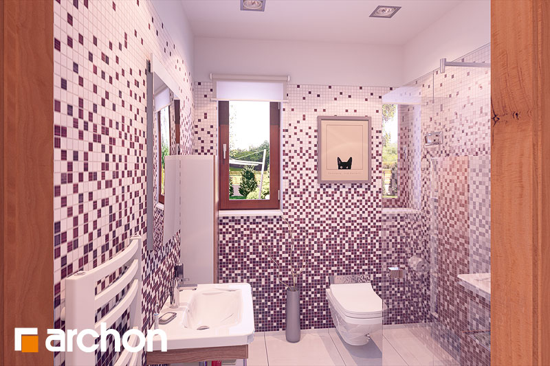 Проект дома ARCHON+ Дом в журавках (П) визуализация ванной (визуализация 3 вид 1)