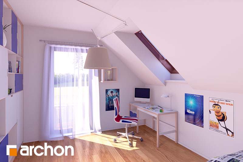Проект дома ARCHON+ Дом в журавках (П) ночная зона (визуализация 1 вид 1)