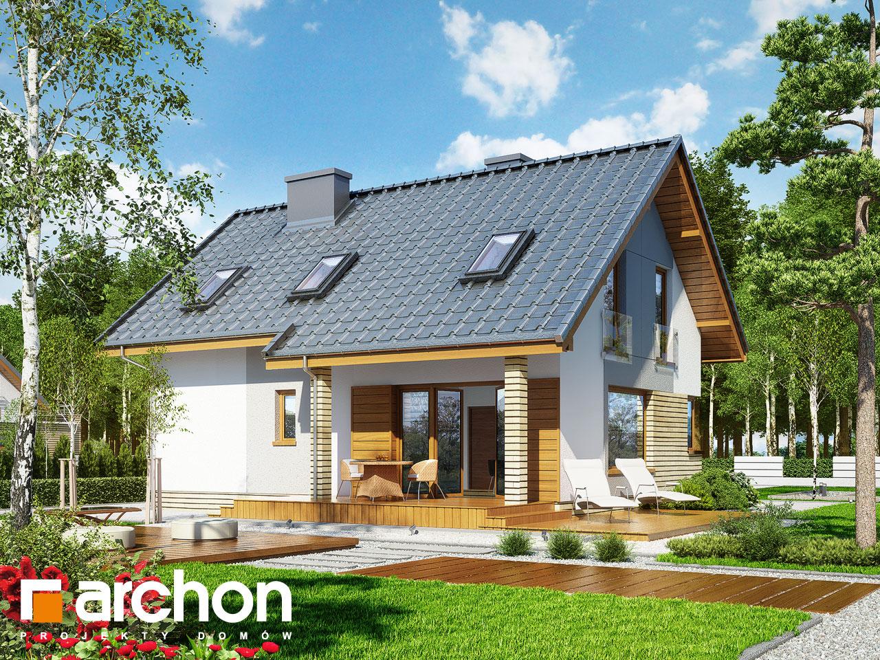 Проект дома ARCHON+ Дом в журавках (П) Вид 2