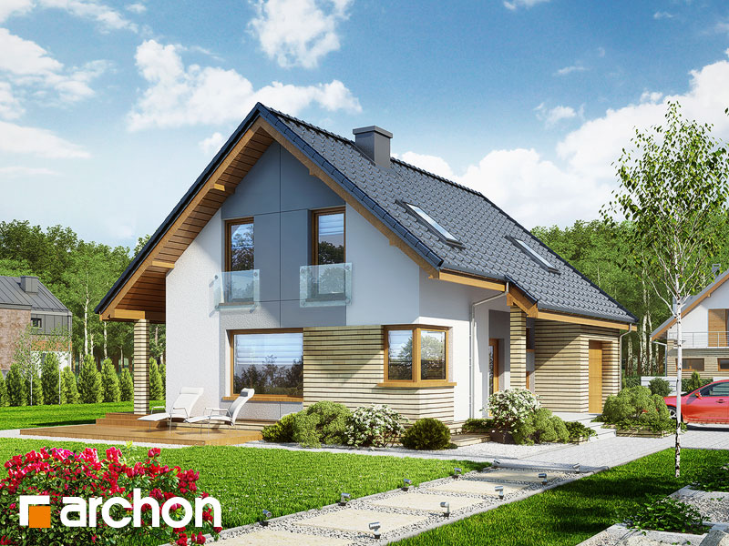 Проект дома ARCHON+ Дом в журавках (П) Вид 1