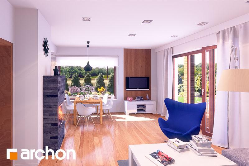 Проект дома ARCHON+ Дом в журавках (П) дневная зона (визуализация 2 вид 1)