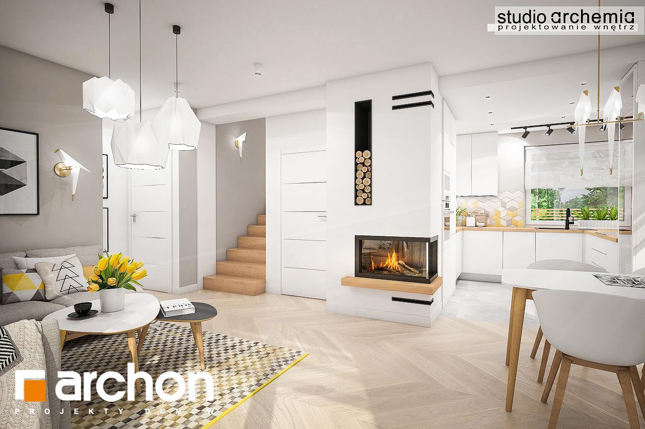 Проект дома ARCHON+ Дом в журавках (П) дневная зона (визуализация 3 вид 1)