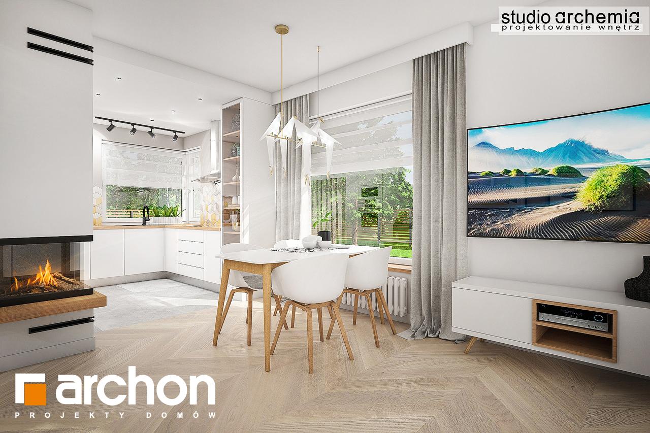 Проект дома ARCHON+ Дом в журавках (П) дневная зона (визуализация 3 вид 2)