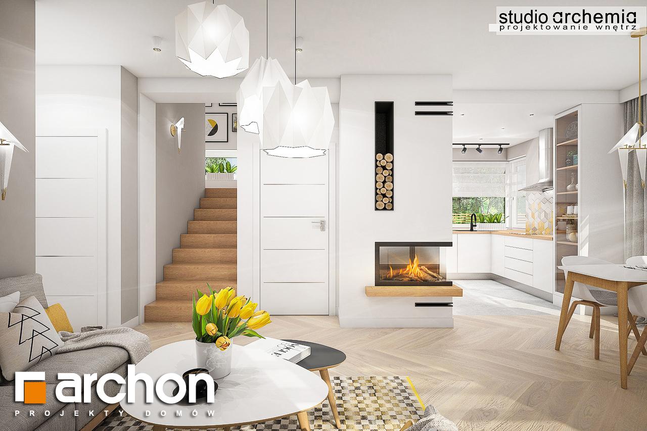Проект дома ARCHON+ Дом в журавках (П) дневная зона (визуализация 3 вид 5)