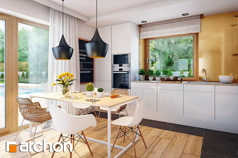 Проект будинку ARCHON+ Будинок в хлорофитумі 3 візуалізація кухні 1 від 1