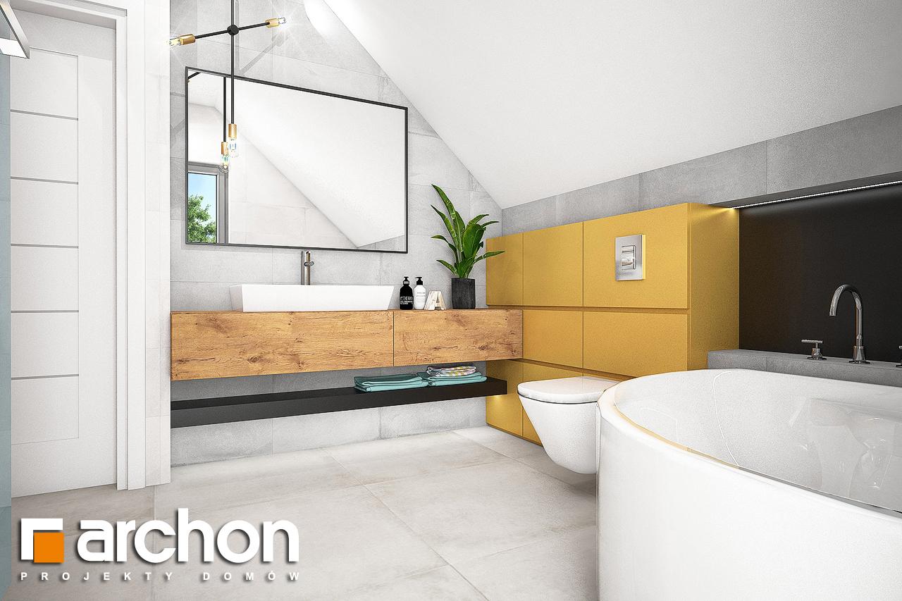 Проект будинку ARCHON+ Будинок в хлорофитумі 3 візуалізація ванни (візуалізація 3 від 1)