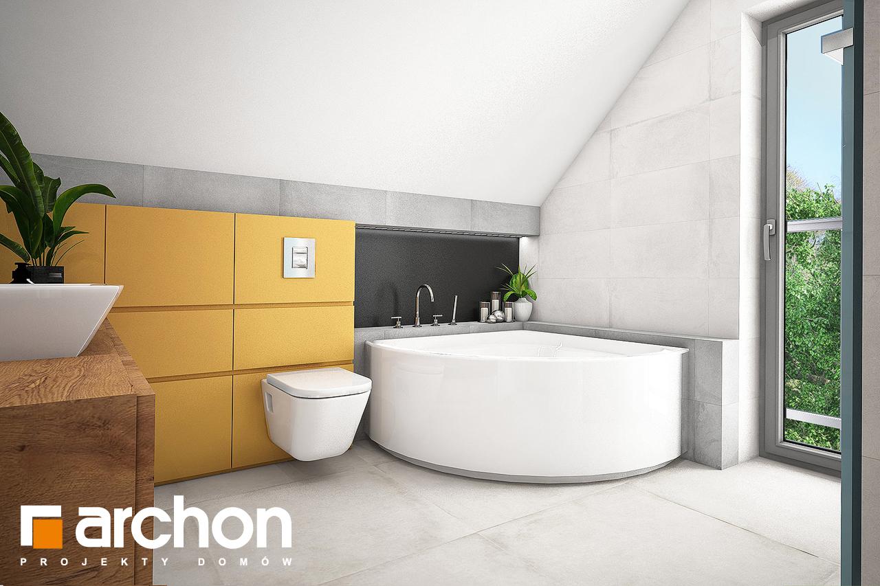 Проект будинку ARCHON+ Будинок в хлорофитумі 3 візуалізація ванни (візуалізація 3 від 2)