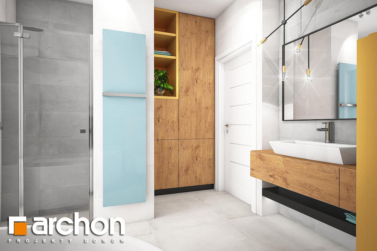 Проект будинку ARCHON+ Будинок в хлорофитумі 3 візуалізація ванни (візуалізація 3 від 3)