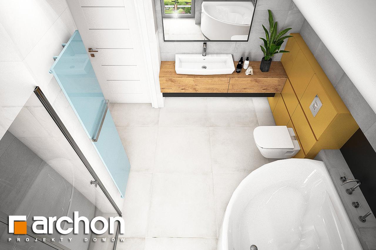Проект будинку ARCHON+ Будинок в хлорофитумі 3 візуалізація ванни (візуалізація 3 від 4)