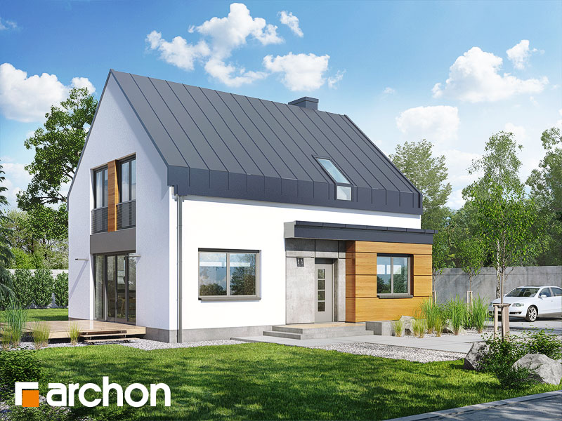 Проект будинку ARCHON+ Будинок в хлорофитумі 3 стилізація 3