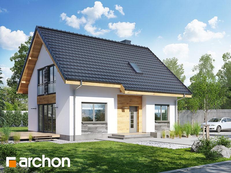 Проект будинку ARCHON+ Будинок в хлорофитумі 3 Вид 1