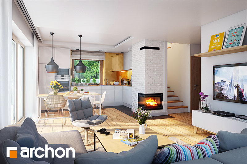 Проект будинку ARCHON+ Будинок в хлорофитумі 3 денна зона (візуалізація 1 від 1)