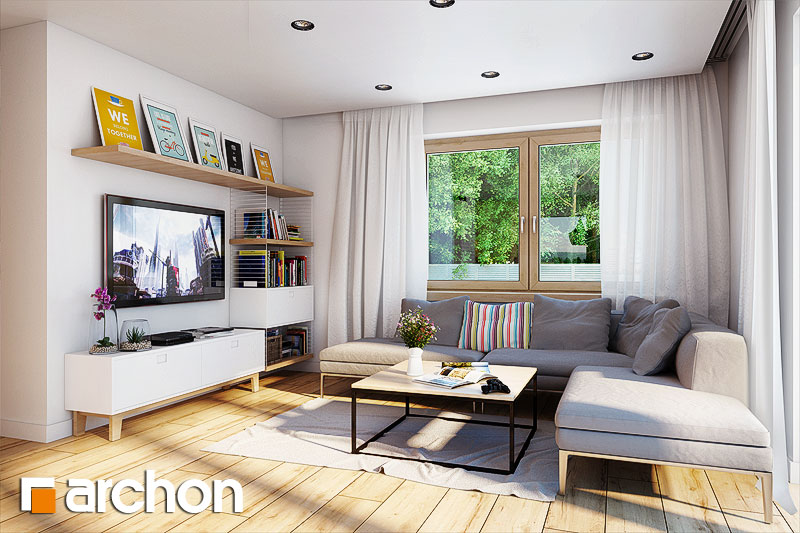 Проект будинку ARCHON+ Будинок в хлорофитумі 3 денна зона (візуалізація 1 від 2)