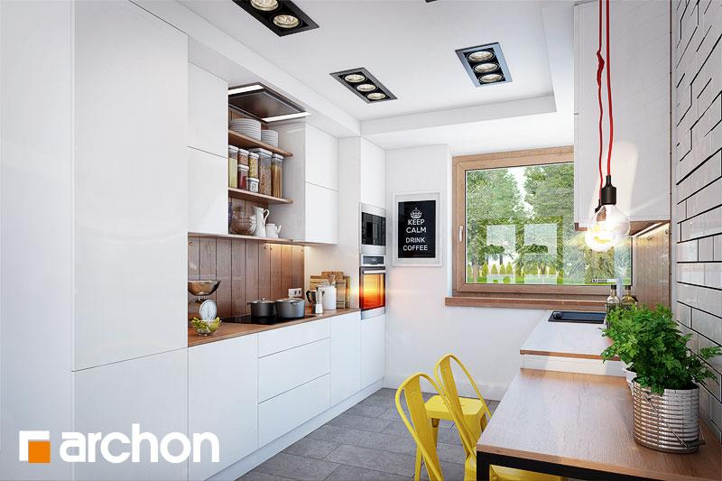 Проект будинку ARCHON+ Будинок у яновцях  візуалізація кухні 1 від 1