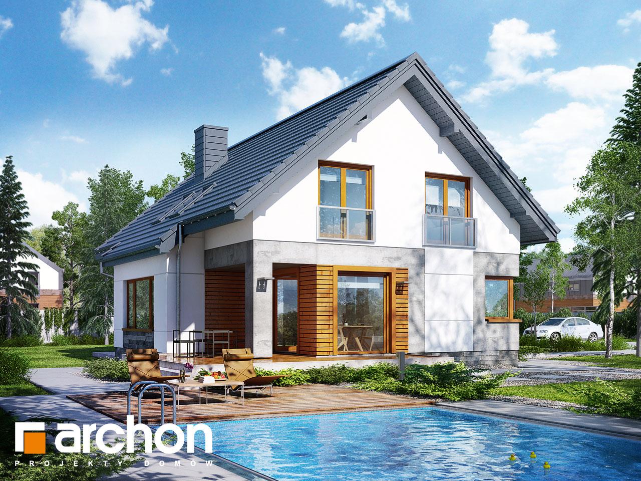 Проект будинку ARCHON+ Будинок у яновцях  Вид 2