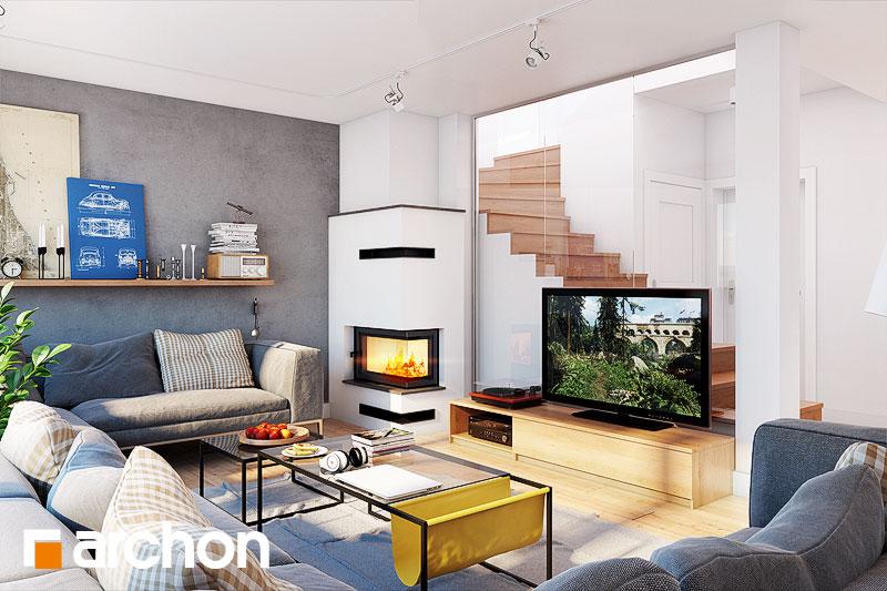 Проект будинку ARCHON+ Будинок у яновцях  денна зона (візуалізація 1 від 1)