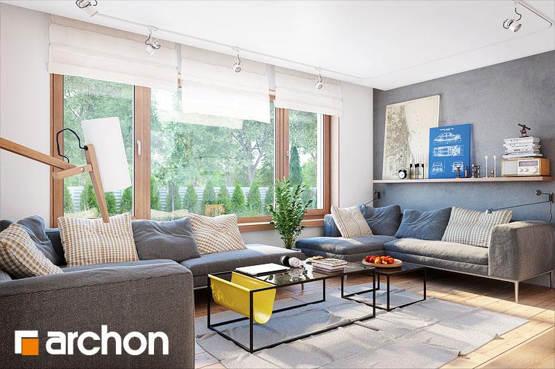 Проект будинку ARCHON+ Будинок у яновцях  денна зона (візуалізація 1 від 2)