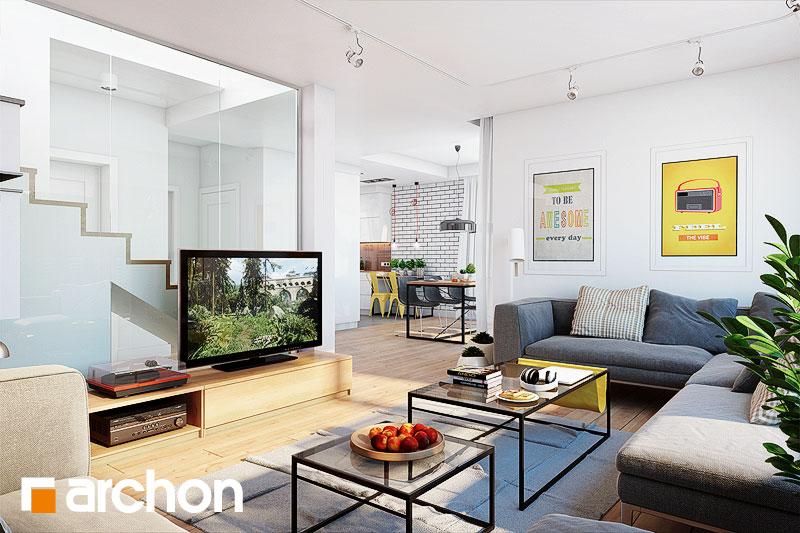 Проект будинку ARCHON+ Будинок у яновцях  денна зона (візуалізація 1 від 3)