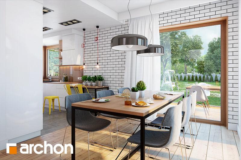 Проект будинку ARCHON+ Будинок у яновцях  денна зона (візуалізація 1 від 4)