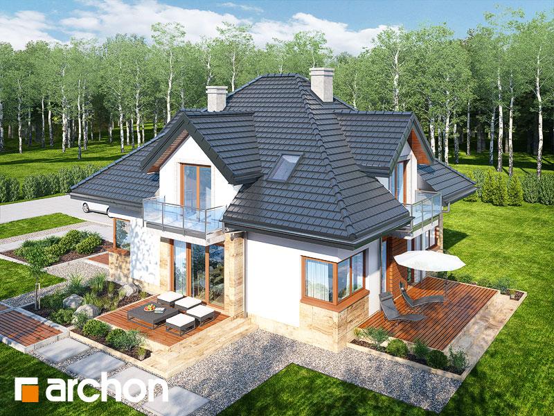 Проект будинку ARCHON+ Будинок у вавжинках додаткова візуалізація