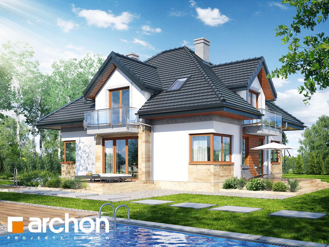Проект будинку ARCHON+ Будинок у вавжинках Вид 2