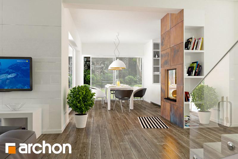 Проект будинку ARCHON+ Вілла Олівія денна зона (візуалізація 1 від 1)