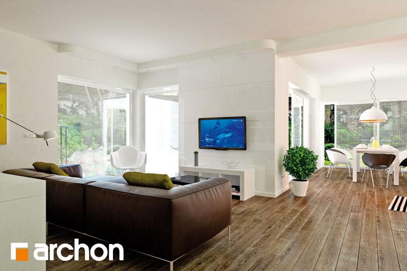 Проект будинку ARCHON+ Вілла Олівія денна зона (візуалізація 1 від 2)