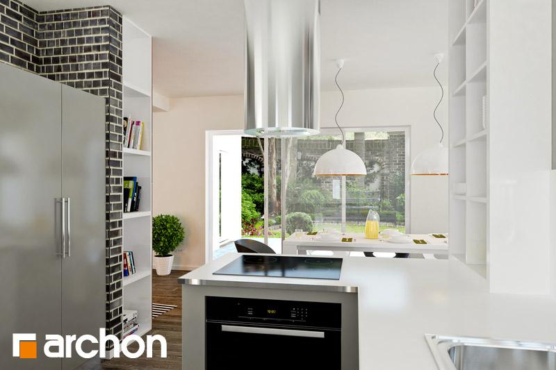 Проект будинку ARCHON+ Вілла Олівія денна зона (візуалізація 1 від 3)