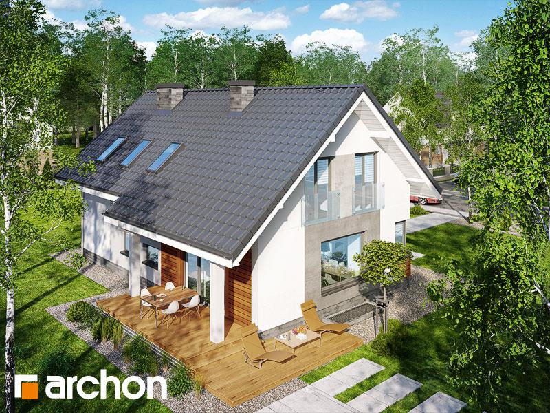 Проект будинку ARCHON+ Будинок в гейджею (П) додаткова візуалізація