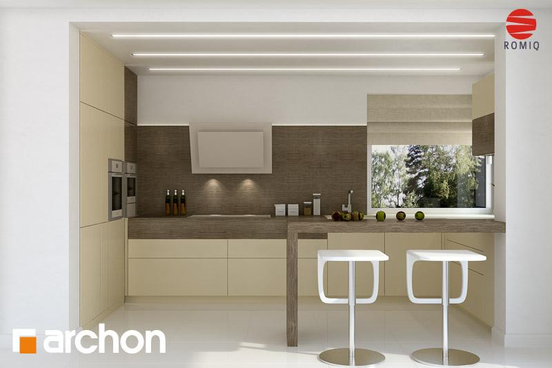 Проект будинку ARCHON+ Будинок в гейджею (П) аранжування кухні 1 від 2