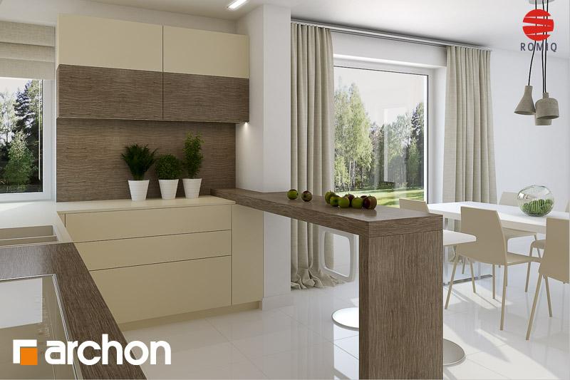 Проект дома ARCHON+ Дом в гейджее (П) аранжировка кухни 1 вид 1