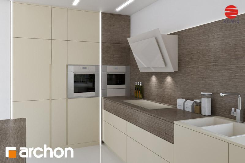 Проект дома ARCHON+ Дом в гейджее (П) аранжировка кухни 1 вид 3