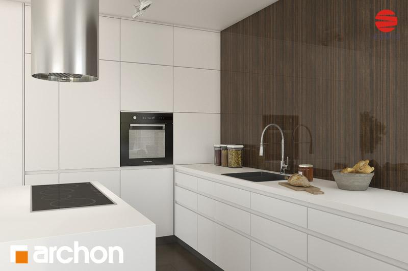 Проект будинку ARCHON+ Будинок в гейджею (П) аранжування кухні 2 від 1