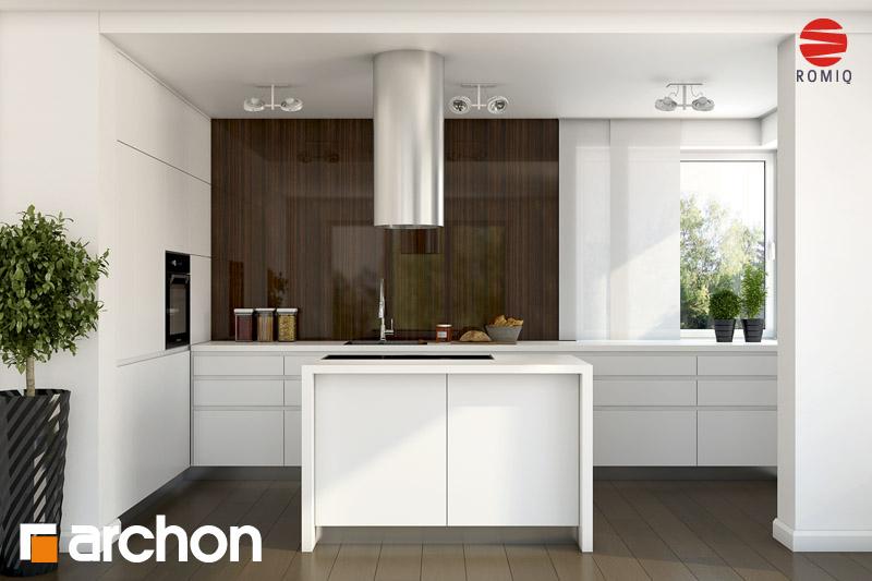 Проект будинку ARCHON+ Будинок в гейджею (П) аранжування кухні 2 від 2