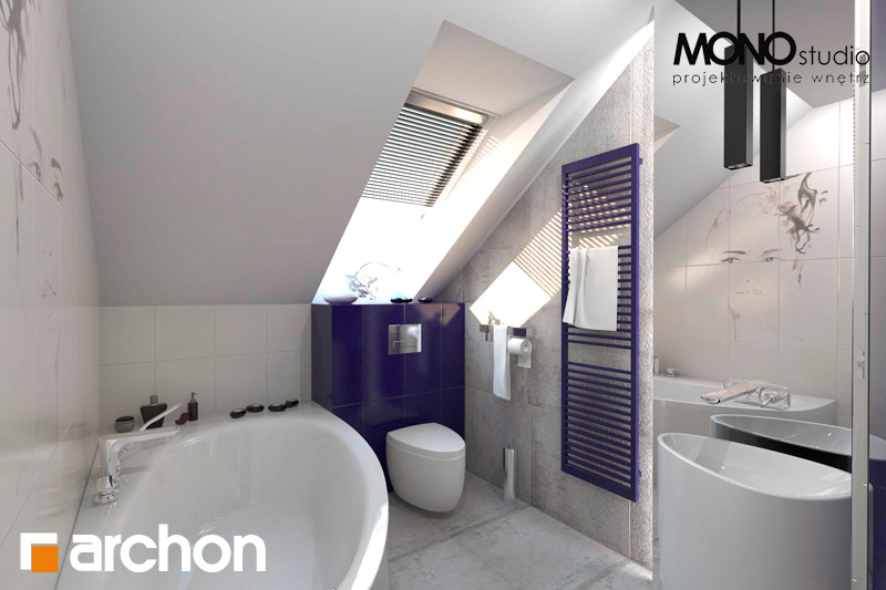 Проект будинку ARCHON+ Будинок в гейджею (П) візуалізація ванни (візуалізація 1 від 3)