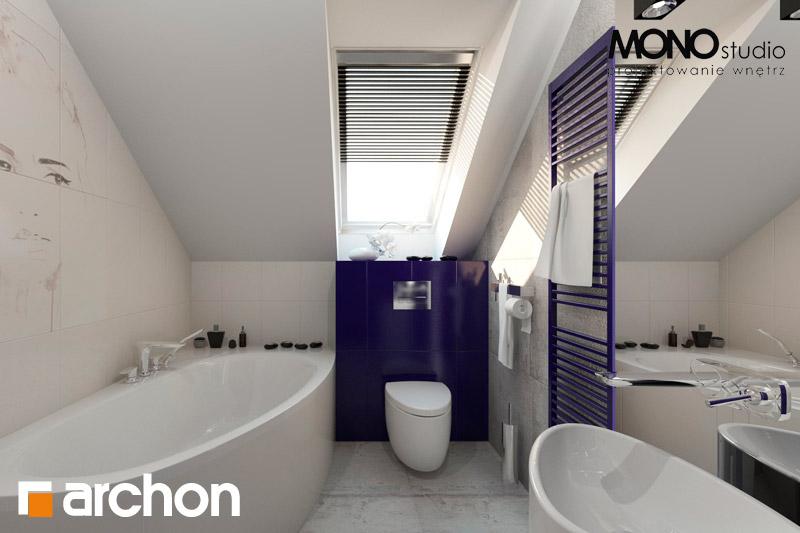 Проект дома ARCHON+ Дом в гейджее (П) визуализация ванной (визуализация 1 вид 1)