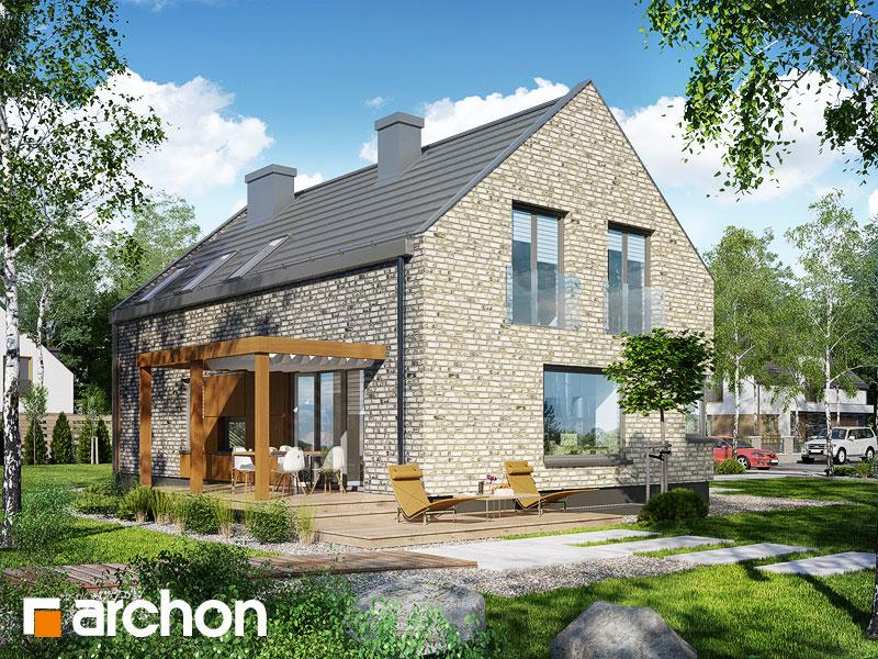 Проект будинку ARCHON+ Будинок в гейджею (П) стилізація 4