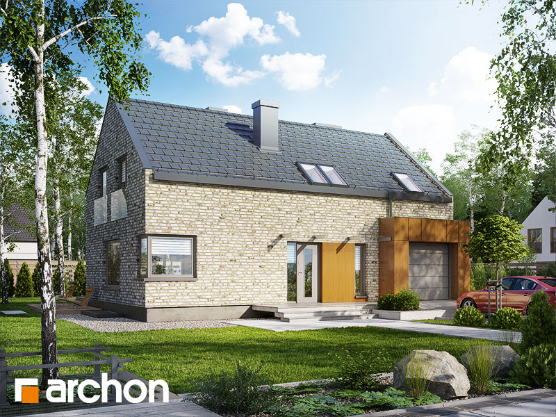 Проект дома ARCHON+ Дом в гейджее (П) стилизация 3