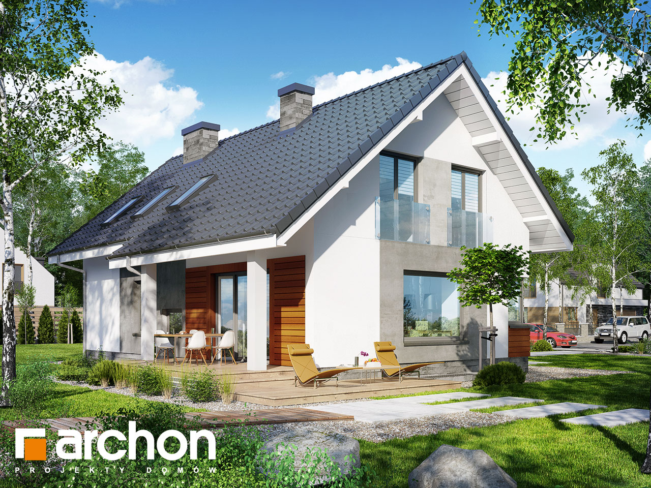 Проект будинку ARCHON+ Будинок в гейджею (П) Вид 2