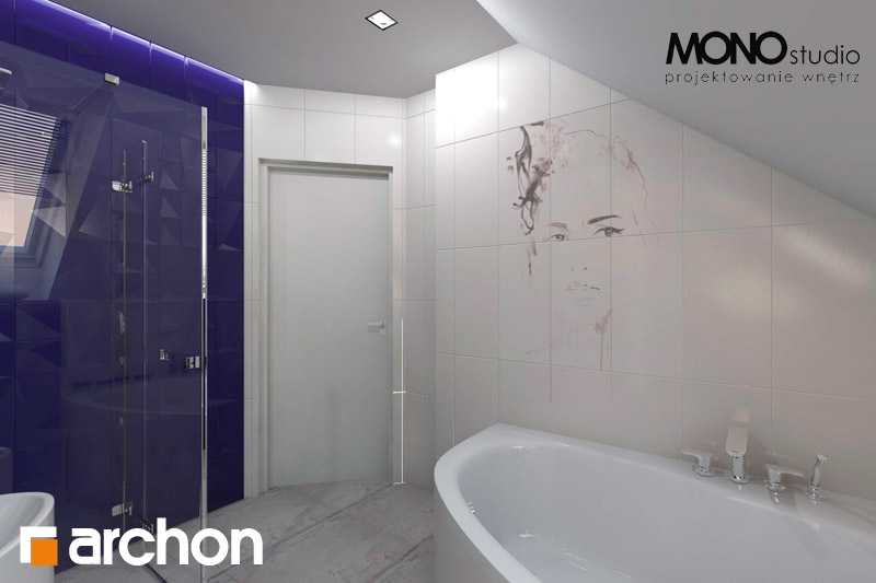 Проект будинку ARCHON+ Будинок в гейджею (Г2) візуалізація ванни (візуалізація 1 від 4)