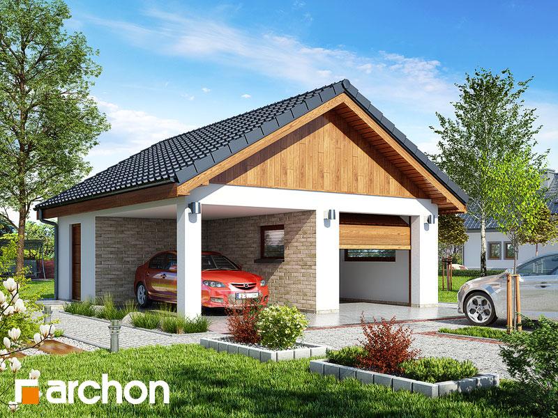 Проект дома ARCHON+ Г19 - Одноместный гараж  стилизация 3