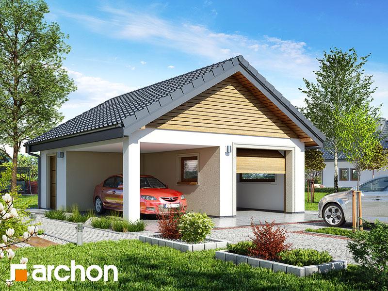 Проект дома ARCHON+ Г19 - Одноместный гараж  Вид 1