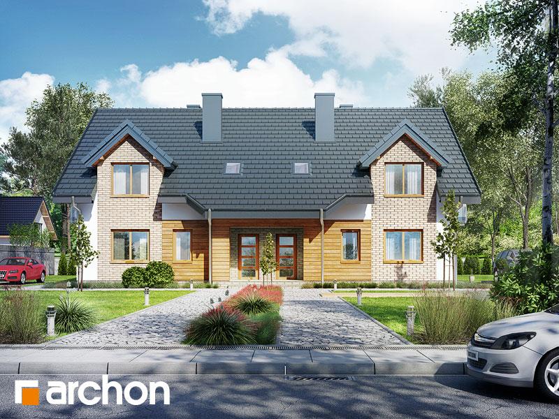 Проект будинку ARCHON+ Будинок в малині (A) візуалізація усіх сегментів