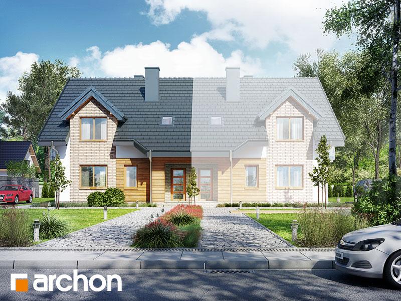 Проект будинку ARCHON+ Будинок в малині (A) Вид 1
