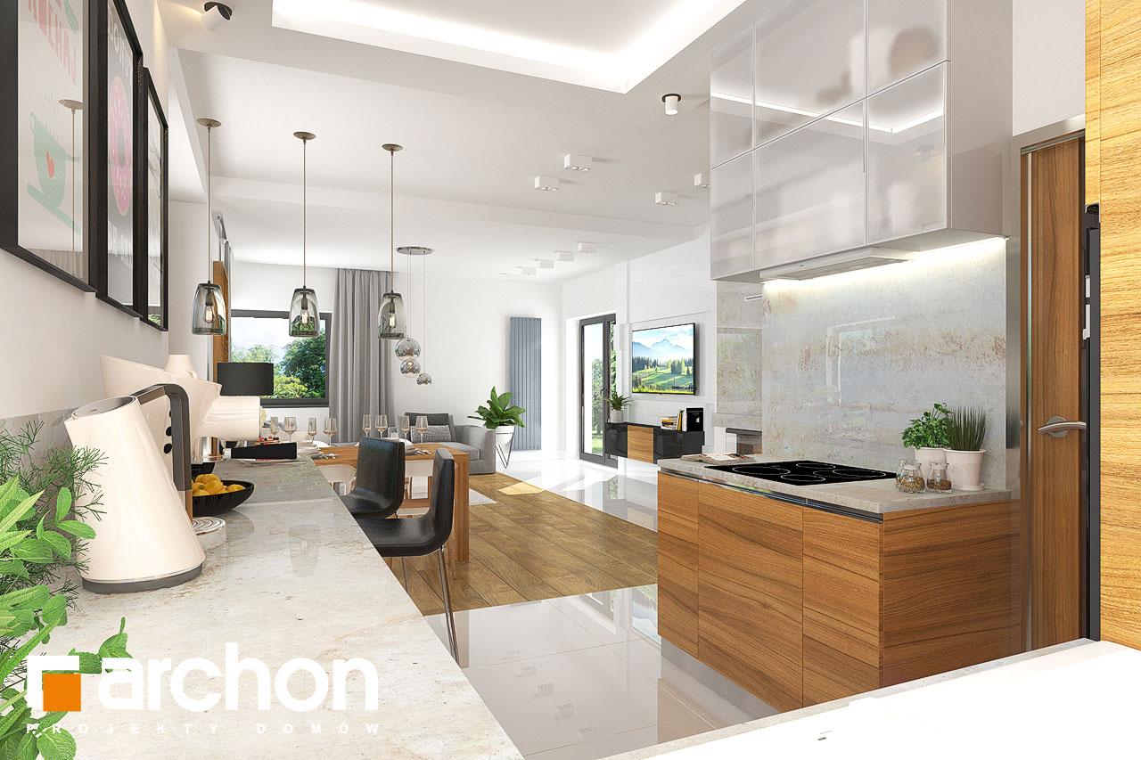 Проект будинку ARCHON+ Будинок в грушках візуалізація кухні 1 від 2