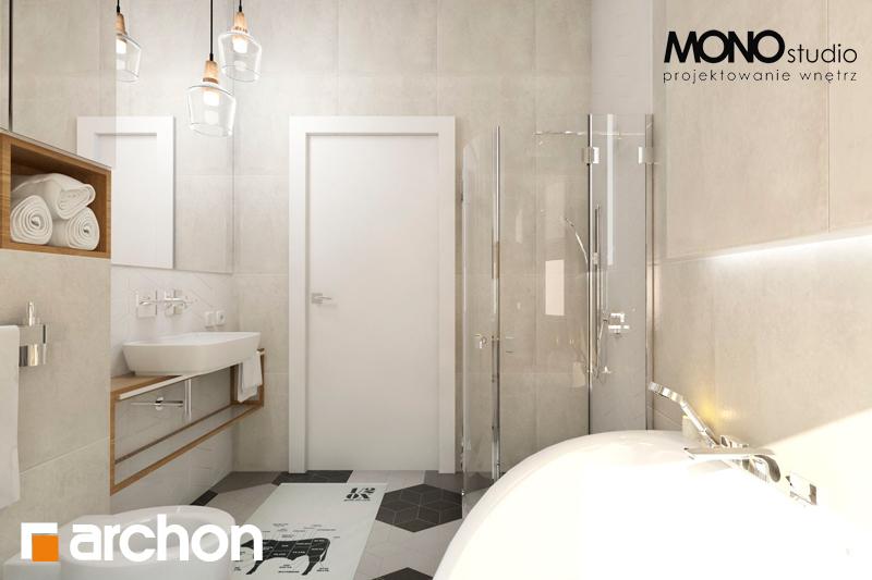 Проект будинку ARCHON+ Будинок в грушках візуалізація ванни (візуалізація 1 від 2)