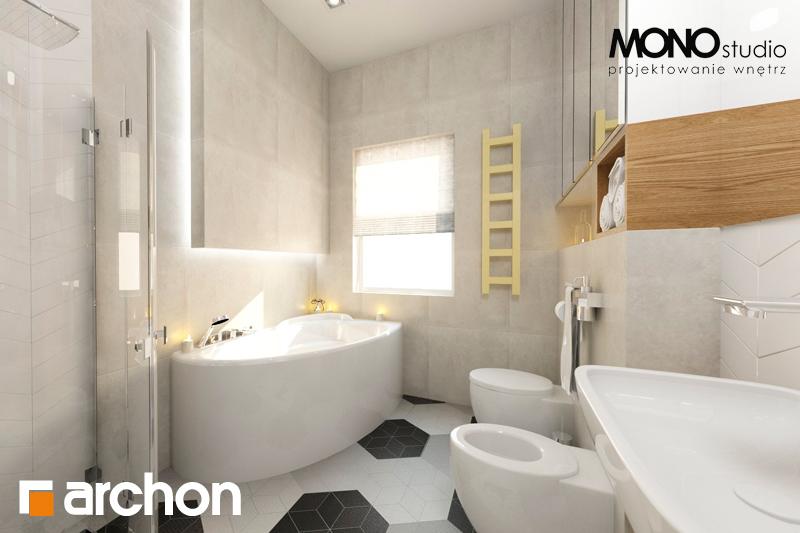 Проект будинку ARCHON+ Будинок в грушках візуалізація ванни (візуалізація 1 від 4)
