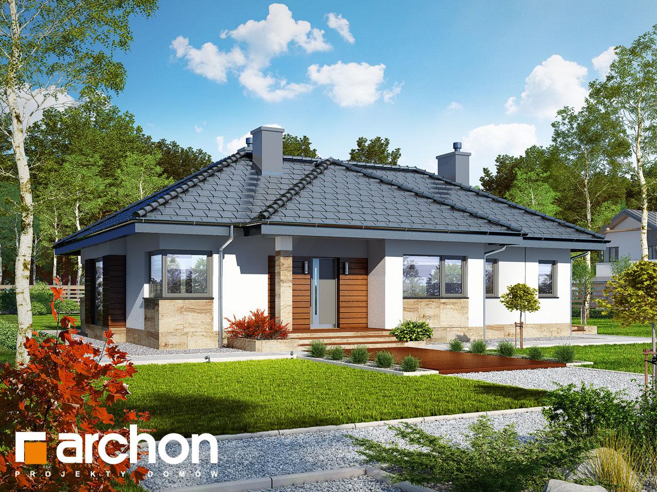 Проект будинку ARCHON+ Будинок в грушках Вид 2