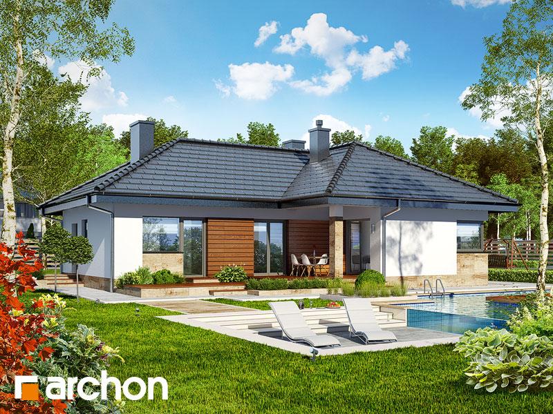 Проект будинку ARCHON+ Будинок в грушках Вид 1